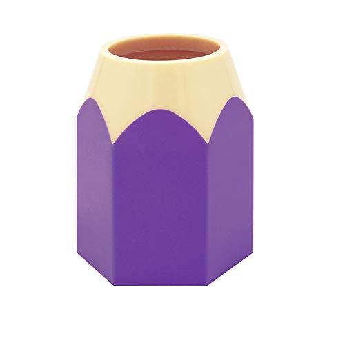 LAAT Creative Pencil Holder Pen Pot Stationery Storage Organizer Makeup Brush Vase Pen Office Desk Organizer School Supplies for Students Purple