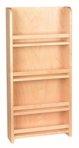 Century Components SRAS12PF Wood Door Mount Kitchen Spice Rack Organizer 12