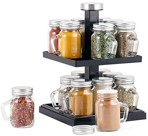 Orii GSR2818 Mason Kitchen Spice Rack Silver