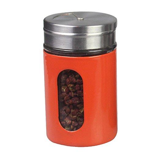 Dust moisture-proof glass cruetseasoning jarssalt pepper shakers stainless steel chickenkitchen supplies-C