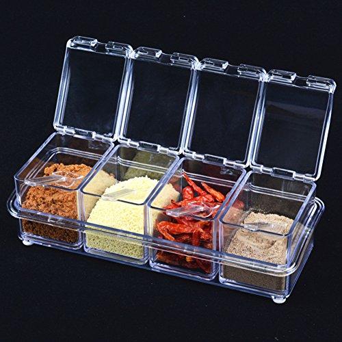 European Spice jar setseasonning box seasoning jars kitchen supplies salt sugar-A