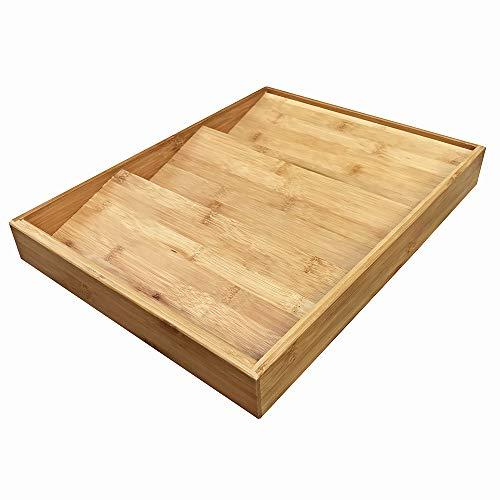 Simhoo Bamboo Spice rack In-Drawer Kitchen Cabinet Spice 18 Bottle Holder for StorageOrganizer 3-Tier