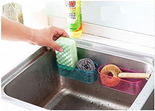 GreenSunTM Spice Wall Holder Kitchen Sink Storage Rack Dish Holder Sponge Drain Basket