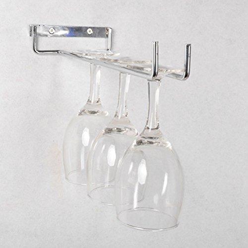 ASIBG Home Hanging stainless steel hanging glass rack wine racks stemware rackscontains no glass