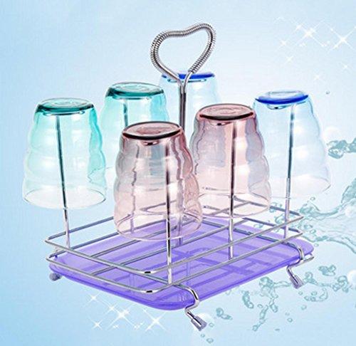 ZWC Creative home Cup glass cups tea cups upside down hanging glass rack wine glass rack