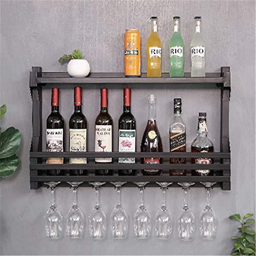 Stemware Storage Rack Iron Wine Glass Rack Wall Hanging Decoration Wall Wine Rack Wine Cabinet Wine Glass Rack Wine Glass Cup Holder Color  Black Size  43x11x80cm