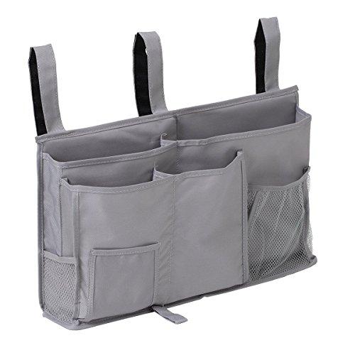 Surblue Caddy Hanging Organizer Bedside Storage Bag for Bunk and Hospital Beds Dorm Rooms Bed Rails8 Pockets