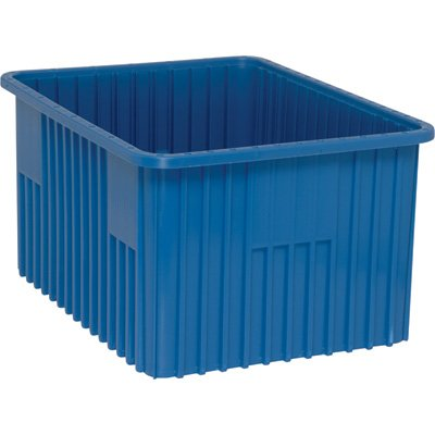 Quantum Storage Systems DG93120BL Dividable Grid Container 22-12-Inch Long by 17-12-Inch Wide by 12-Inch High Blue 3-Pack