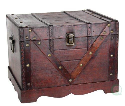 Wooden Treasure Box Old Style Treasure Chest
