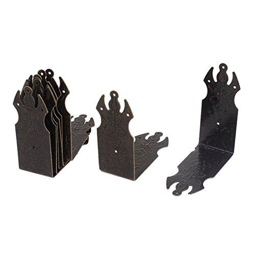 box edge protector - TOOGOOR Chest Box Corners Decor Angle Plates Brace Protectors 70x70mm 8pcs