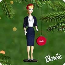 1 X 2000 Hallmark Ornament Barbie Commuter Set