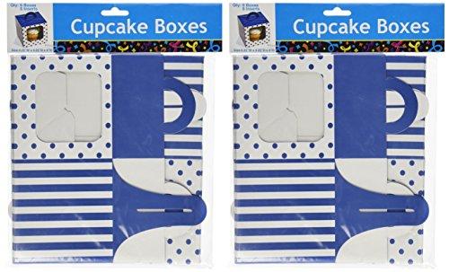 Blue Polka Dot Cupcake Boxes 12 pc