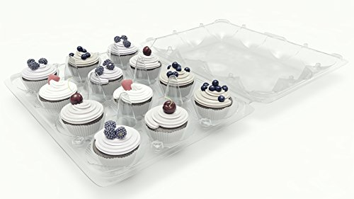 Cupcake Boxes 12 Pack Carrier Holder Containers Each Holds One Dozen Cup Cakes Party Potluck Baking