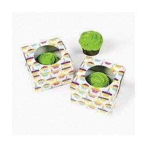 Happy Birthday Cupcake Boxes 12 Pack 4 12 Cardboard