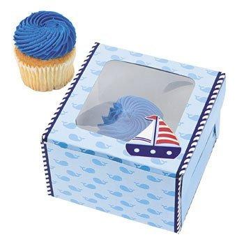 Nautical Sailor Cupcake Boxes - 12 ct