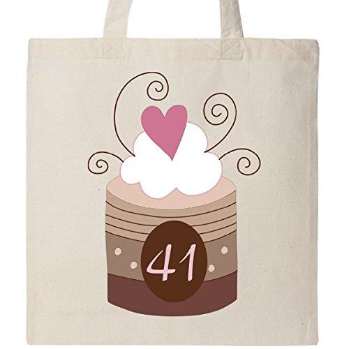 Inktastic 41st Birthday Cupcake Tote Bag Natural