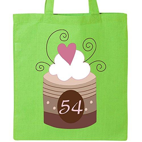 Inktastic 54th Birthday Cupcake Tote Bag Lime Green