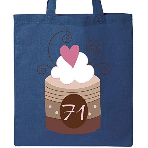 Inktastic 71st Birthday Cupcake Tote Bag Royal Blue