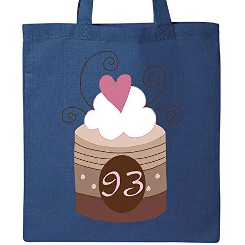 Inktastic 93rd Birthday Cupcake Tote Bag Royal Blue