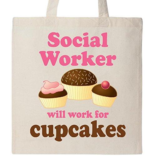 Inktastic Social Worker Cupcakes Tote Bag Natural