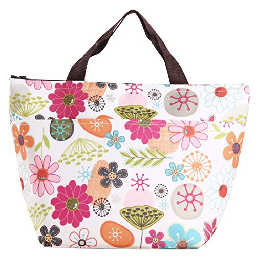 MoModer Reusable Lunch Bag for Women and Kids Insulated Fashionable flowers
