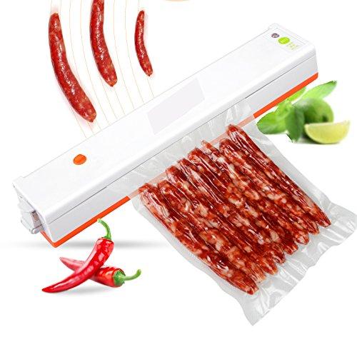 Vacuum Sealer Machine Plus 30 PCs Sealer Bags Portable Food Saver with Starter Kit for Food Vacuum Sealers Packing Weight 17lb