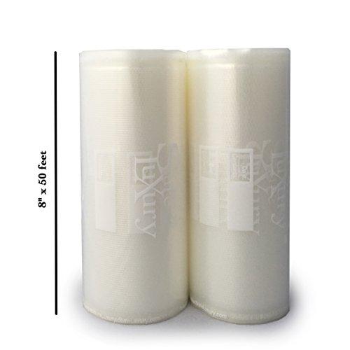 Vacuum Sealer Bags 2 8x 50 Food Saver Vacuum Sealer Rolls Commercial Grade