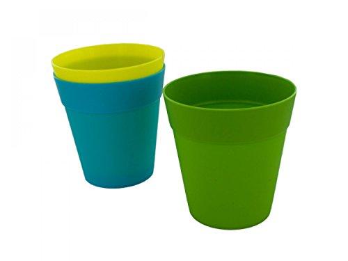 Colorful Plastic Flower Pot - Set of 48 Lawn Garden Pots Planters Hangers