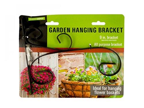 Decorative Metal Garden Hanging Bracket - Set of 48 Lawn Garden Pots Planters Hangers