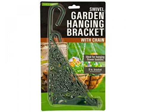 Swivel Garden Hanging Bracket With Chain - Set of 16 Lawn Garden Pots Planters Hangers
