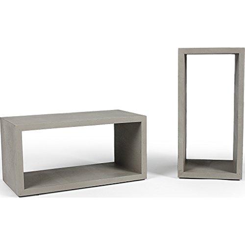 Lyon Beton Stackable Cube Monobloc Medium - Concrete