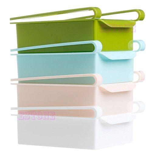Amrka Slide Kitchen Fridge Freezer Space Saver Organizer Storage Box Drawer Holder White
