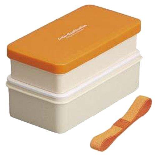 Sushi Lunch Box Bento Box Set 580ml with Chopsticks ORANGE
