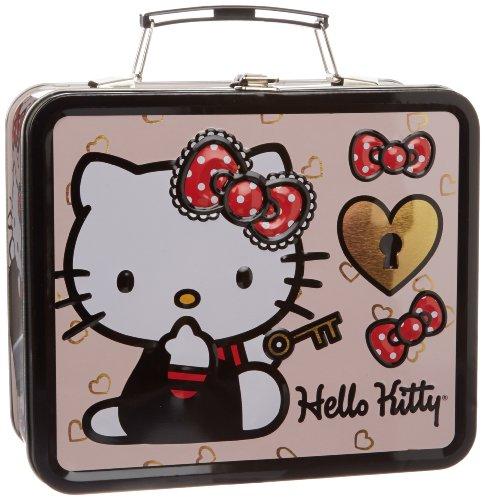 Hello Kitty Lock and Key SANLB0079 Childrens LunchboxPinkRedOne Size