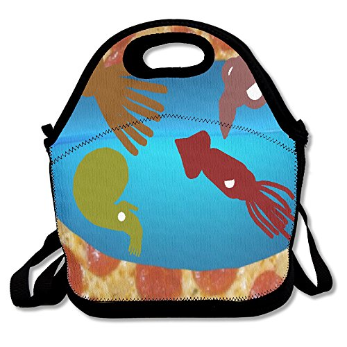 ZDTSQWY Lunch Boxes Octopus And Cuttlefish Lunchbox Food Container Lunch Tote Handbag Cool Fashion Designer Lunch Box For Work Office School