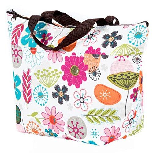 Cosaga Waterproof Picnic Insulated Fashion Lunch Cooler Tote Bag Travel Zipper Organizer Box