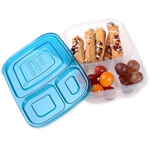 Lunch Box - SODIALR3-compartment rectangle Plastic Lunch Box