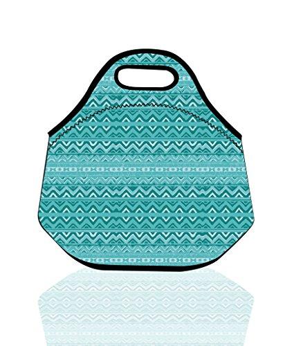 Insulated Neoprene Lunch Box Tote Bag with Heavy Duty Zipper For WomenAdultsKidsGirls