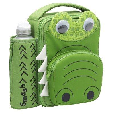 Smash Enterprises 3D Insulated Lunch Case and Bottle 12 oz Green Crocodile