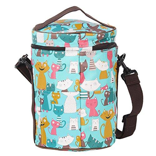 Cooler Bag Storage Bag Picnic Bag Tote Bag Portable Insulation Bag Lunch Bag Gripesack with Zipper for Lunch-box Shopping Bag Reusable Cylinder Big Capacity
