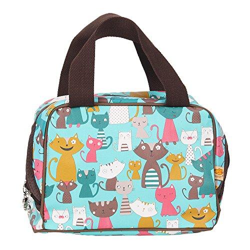 Tote Bag Portable Insulation Bag Lunch Bag Gripesack for Lunch-box Shopping Bag Reusable Picnic Bag Tote Bag Cooler Bag Storage Bag Square with Zipper