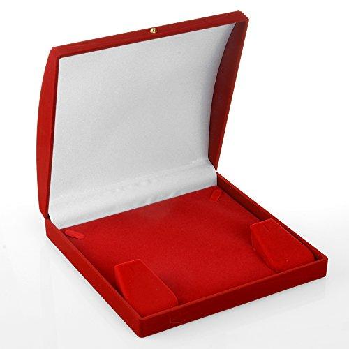 Geff House Dome Rani NecklaceEarring Jewelry Set Gift Box Medium