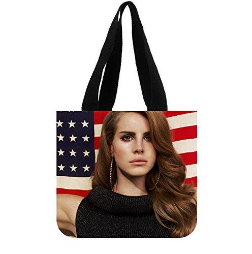 Custom Lana Del Rey Durable Canvas Shopping Tote Bag 2 Sides
