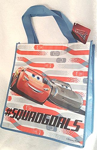 CARS 3 LARGE REUSABLE BAG ~ Lightening McQueen Jackson Storm Squadgoals