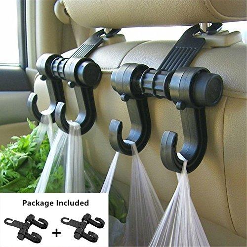 2 PCS Car hooks Vehicle Back Seat Hidden Headrest Hanger Universal Holder for Purse Handbag Grocery Shopping Bag Cloth Coat 2 Pack