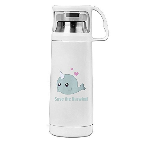 CHTANG7 Cartoon Narwhal Save The Narwhals Vacuum Thermos Bottle 350ML