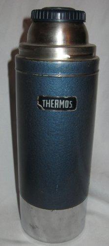 Vintage Metal Thermos Brand Vacuum Bottle