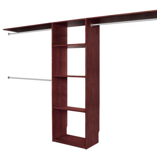 Solid Wood Closets C16CHY 16-Inch Depth Closet Organizer System Cherry