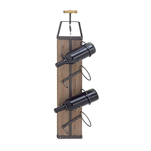 Benzara Metal Wine Racks Bm118883 Benzara Winsome Wood Metal Wine Rack 8 X 32 X 5 Inches White