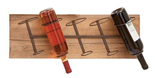 Deco 79 Wall Wood Metal Wine Rack 26 by 8-Inch